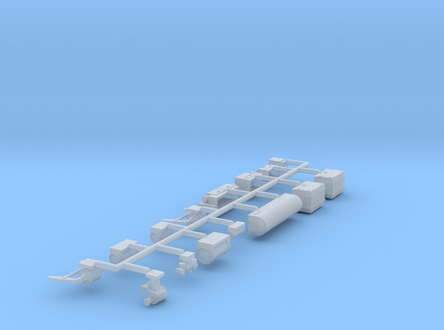 Pullman Underframe Details (Steam Ejector A/C) in Smooth Fine Detail Plastic