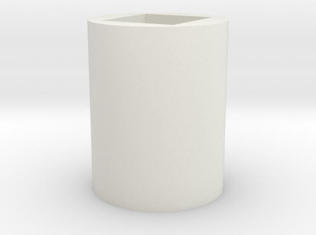 5 in White Natural Versatile Plastic