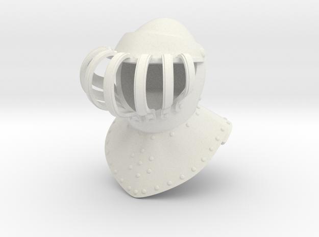 Noble Burgonet (Full) in White Natural Versatile Plastic: Small