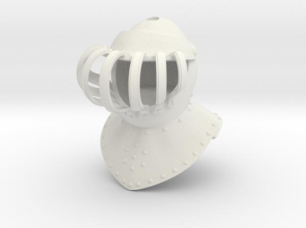Noble Burgonet (For Crest) in White Natural Versatile Plastic: Small