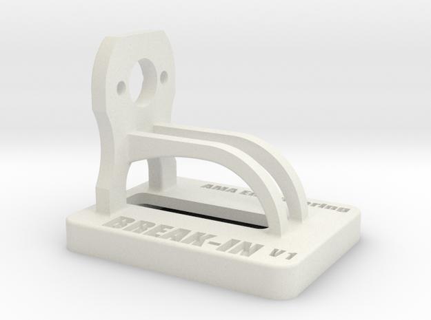 Mini-Z Motor Break-In Stand Single V1 in White Natural Versatile Plastic