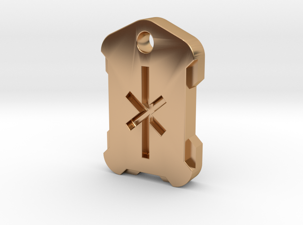 Nordic Rune Letter IA in Polished Bronze