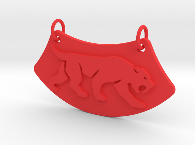 Crouching Tiger Necklace in Red Processed Versatile Plastic