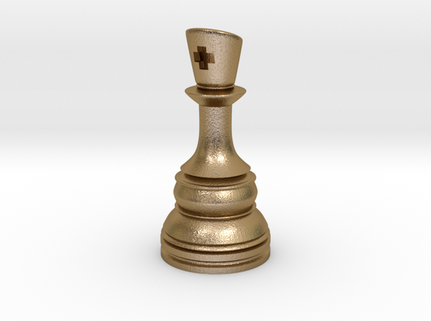 Ferz-Rider (Bishop) - [1,1] Classic in Polished Gold Steel