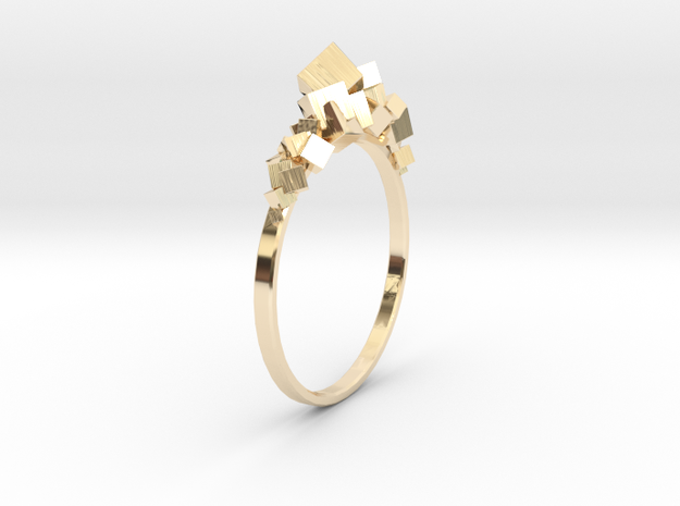 Cristal in 14k Gold Plated Brass