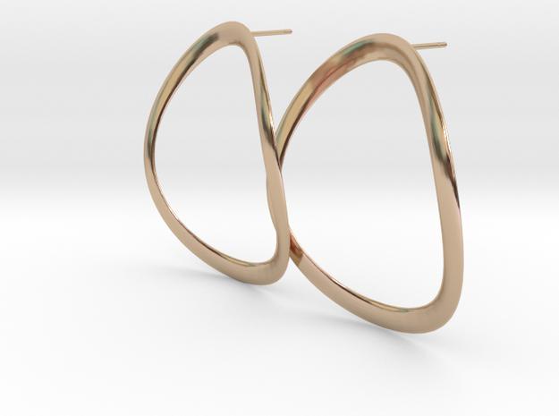 Onda02e_4 earrings in 14k Rose Gold Plated Brass