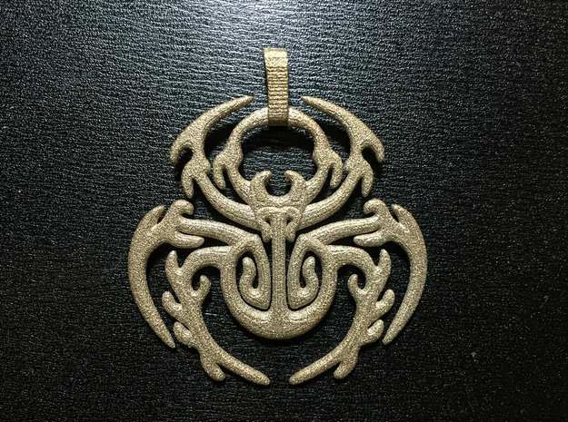 SpiderPendant in Polished Bronzed-Silver Steel