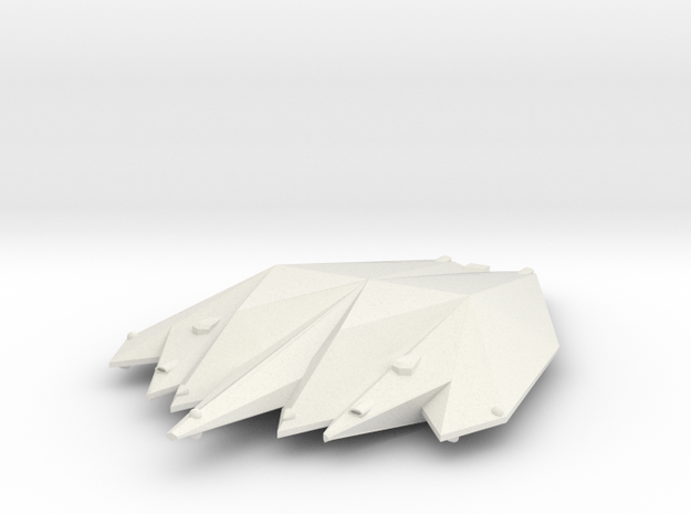 3788 Scale Singer Heavy Cruiser (CA) MGL in White Natural Versatile Plastic