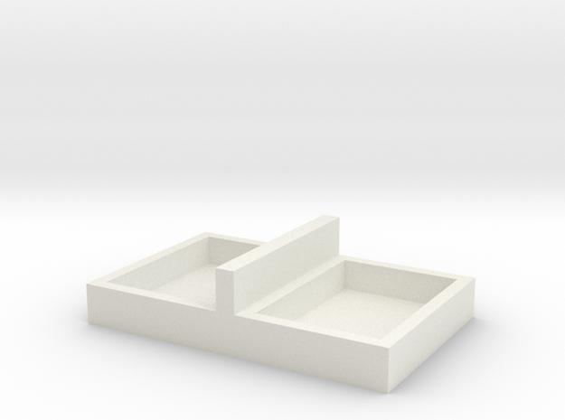 15x11mm 2 Speaker Resonance Box in White Natural Versatile Plastic