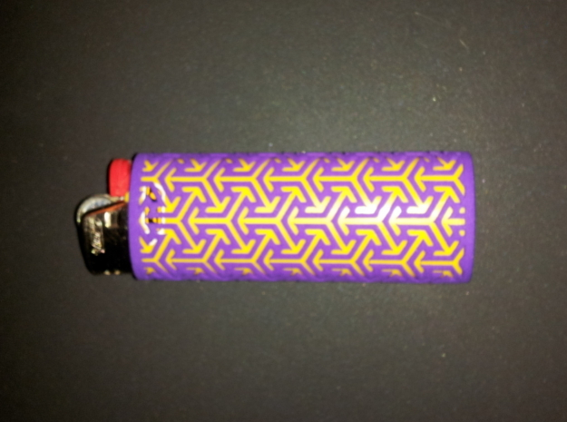 BIC Sleeve Arrows 3d printed Arrow sleeve with yellow lighter