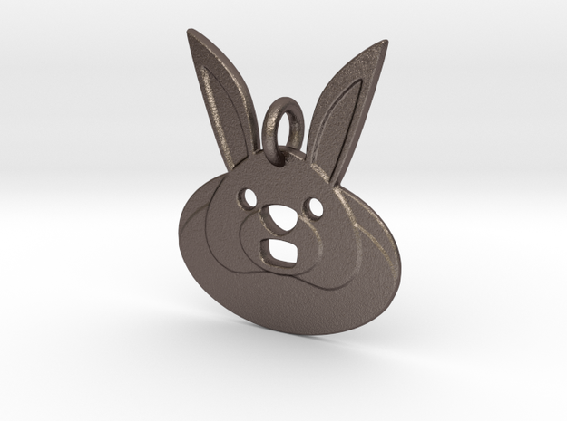 Rabbit Hole Pendant in Polished Bronzed-Silver Steel