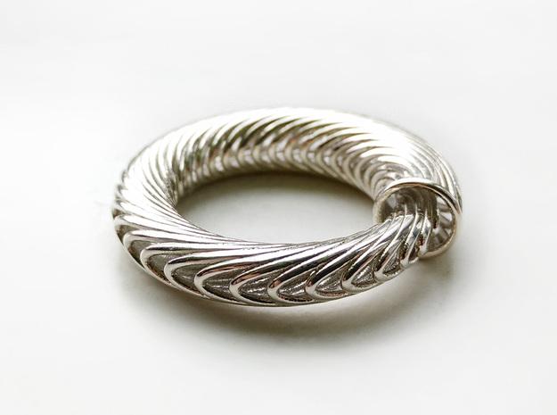 Ouroboros Torus in Polished Silver