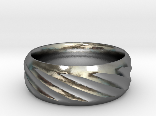 Twist Ring in Polished Silver: 6 / 51.5