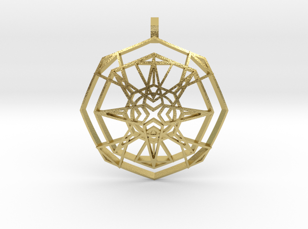 Metatron's Fire-Star (Domed) in Natural Brass