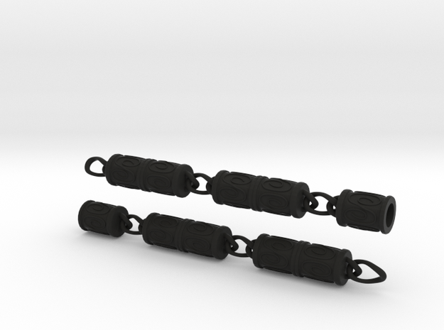 Organization XIII Beads And Chain Version 2 in Black Natural Versatile Plastic: Small