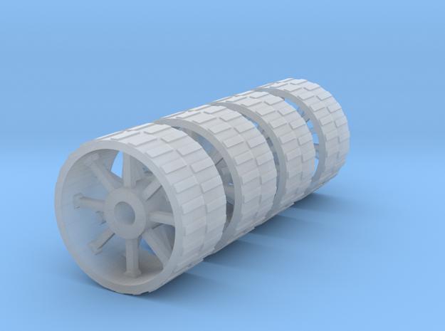 18mm diameter artillery wheels in Smooth Fine Detail Plastic