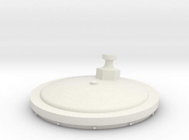 Small Tank Top in White Natural Versatile Plastic