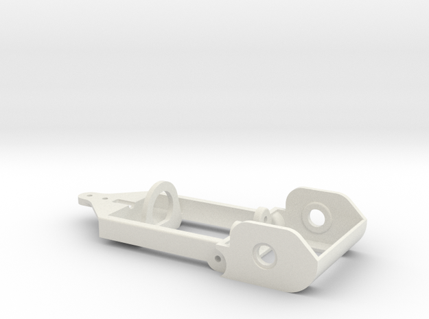 "motor holder ""Back to '60"" 1/24 slotcar chassis -4 in White Natural Versatile Plastic"