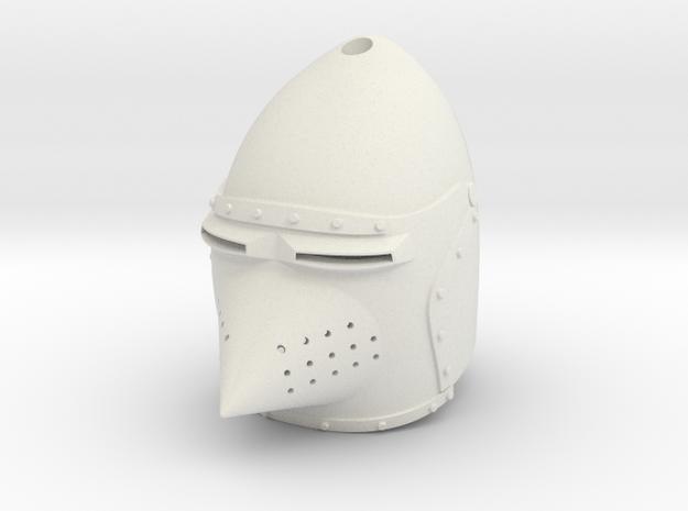 Hounskull Bascinet (For Crest) in White Natural Versatile Plastic: Small