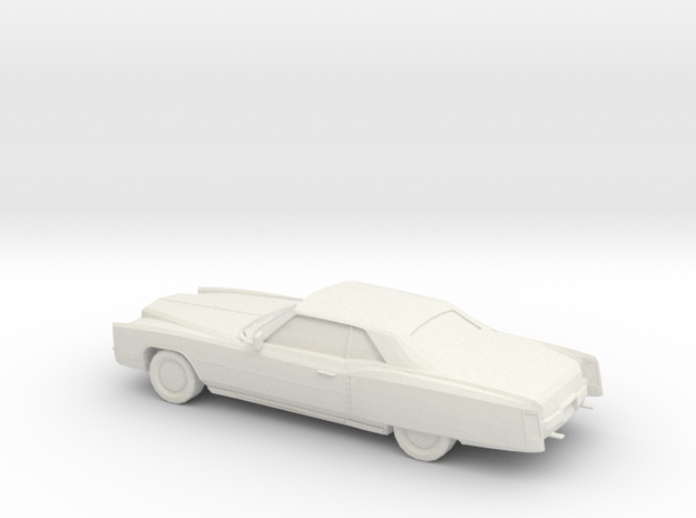 1/76 1971 Cadillac Eldorado Convertible in White Natural Versatile Plastic