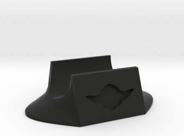 Vintage Yoda stand in Black Natural Versatile Plastic