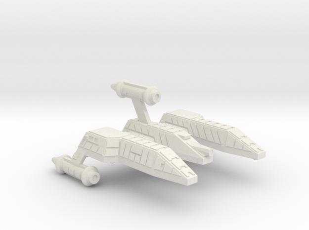 3125 Scale Lyran Refitted Single-Tooth Jaguar CVN in White Natural Versatile Plastic