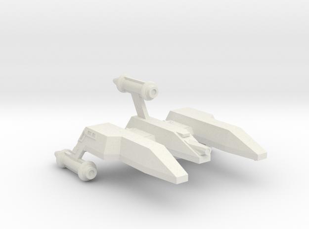 3788 Scale Lyran Single-Tooth Jaguar War Mauler CV in White Natural Versatile Plastic
