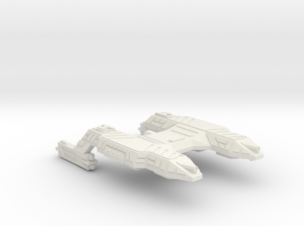 3788 Scale Lyran Refitted Saber-Tooth Tiger CVN in White Natural Versatile Plastic