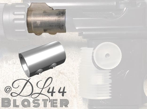SOLO Bull Barrel (w/ screw details) in White Processed Versatile Plastic
