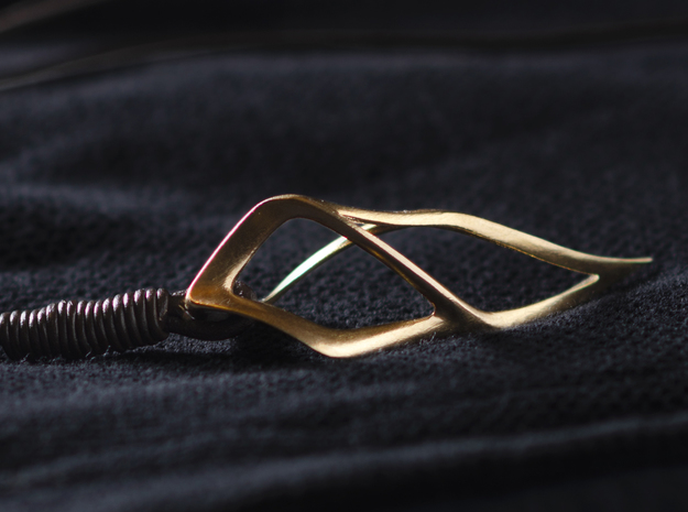 Fluidic Claw in Natural Silver