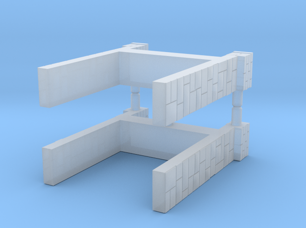 T-Scale Stone Viaduct End Caps (5mm) in Smooth Fine Detail Plastic