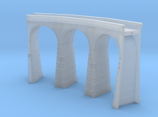 T-scale Stone Viaduct Section - 45d Curve - 145mm