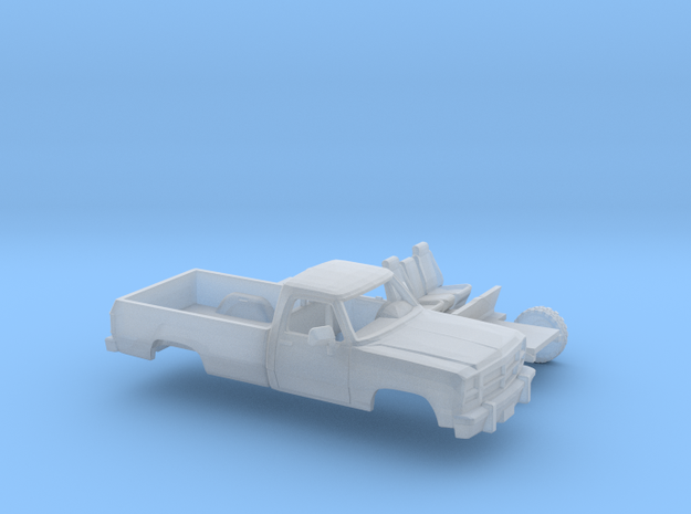 1/87 1991-93 Dodge Ram RegCab  Long Bed Kit in Smooth Fine Detail Plastic