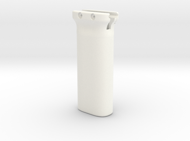 Magpul-style battery holder fore grip for Picatinn in White Processed Versatile Plastic