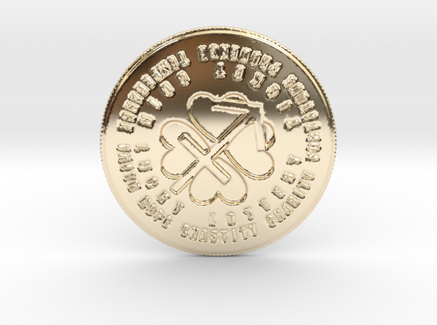 Sagittarius Coin of 7 Virtues in 14k Gold Plated Brass