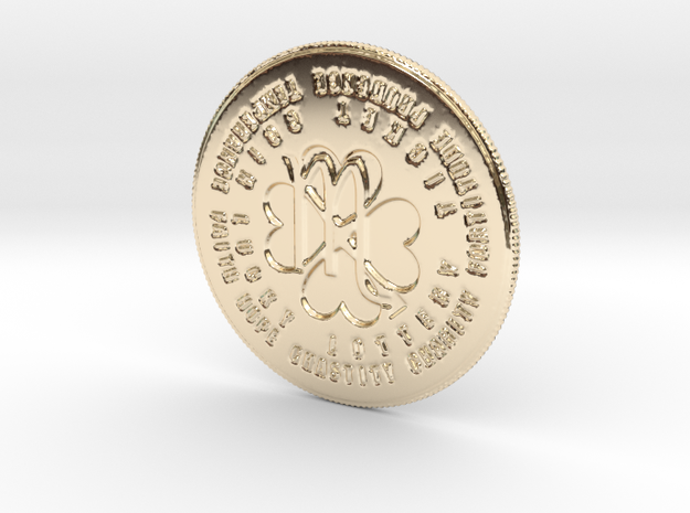 Scorpio Coin of 7 Virtues in 14k Gold Plated Brass
