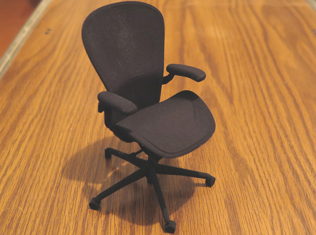 "Aeron Chair PostureFit 4.8"" tall in Black Natural Versatile Plastic"