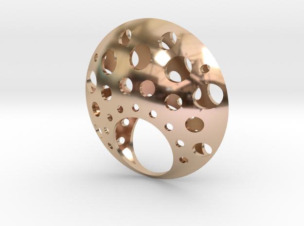 ring luna in 14k Rose Gold Plated Brass: 7 / 54