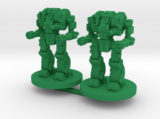 Mattock A Combat Walker - 3mm in Green Processed Versatile Plastic