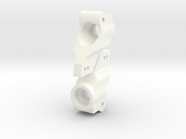 NIX63654 RC10 Hex Conversion Hubs in White Processed Versatile Plastic