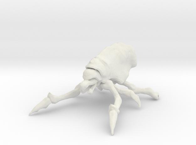 Mite Bug in White Natural Versatile Plastic