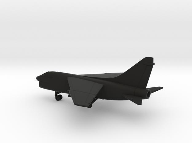 Vought LTV A-7E Corsair II in Black Natural Versatile Plastic: 1:200