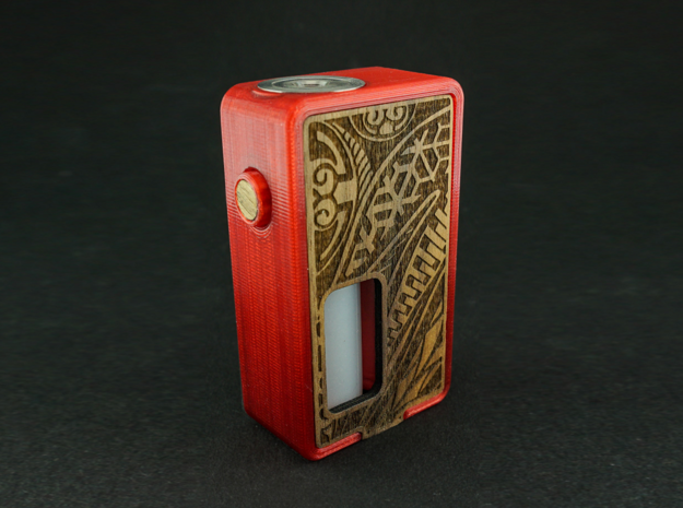 Front and Back panel for Single 18650 Squonk Mod in Orange Processed Versatile Plastic