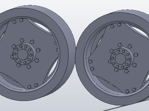 1:64 scale 14.9-28 Wheel Pair in White Strong & Flexible
