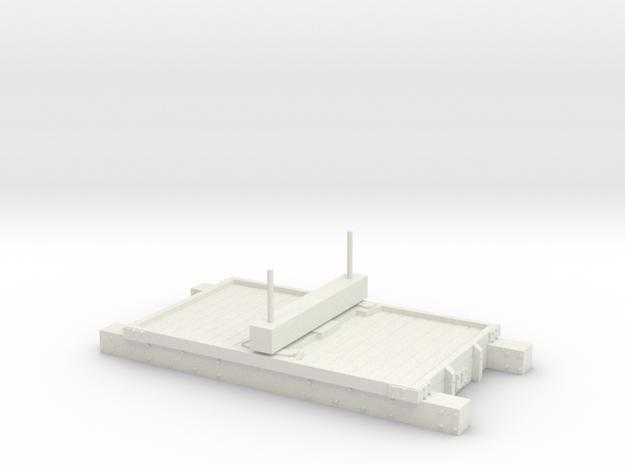 Single Bolster NSR/LNWR/FR/Cam in White Natural Versatile Plastic