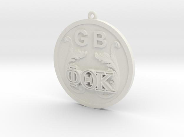 PhiThetaKappa Ornament in White Premium Versatile Plastic