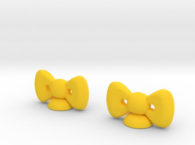 LOCK HK Ribbon  Small 2pcs  in Yellow Processed Versatile Plastic