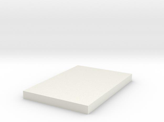 Snow Trooper Small Square in White Natural Versatile Plastic