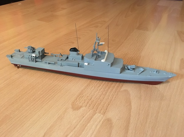 Thetis / Najade, Hull (1:200, RC) in White Natural Versatile Plastic