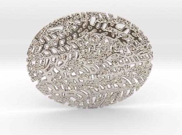 VENA01 Pendant in Rhodium Plated Brass